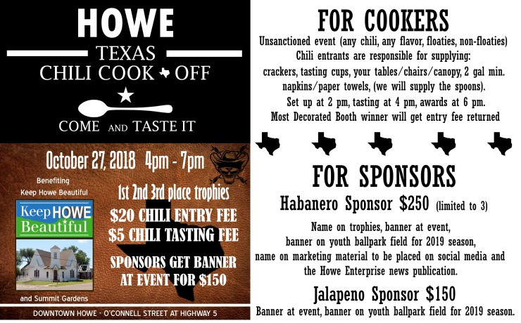 Howe Chili Cook-Off
