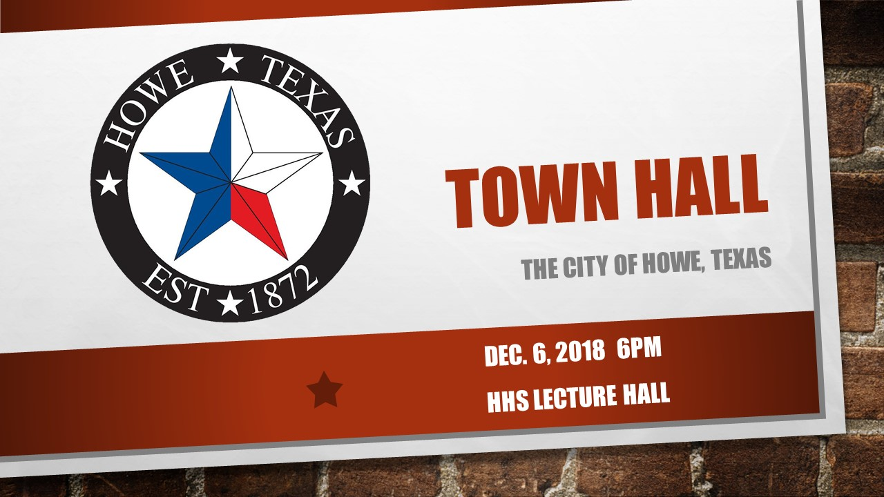 2018 1206 City of Howe Town Hall Meeting